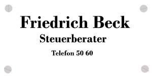 Friedrich Beck Steuerberater in Quickborn